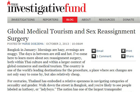 Global Medical Tourism and Sex Reassignment Surgery