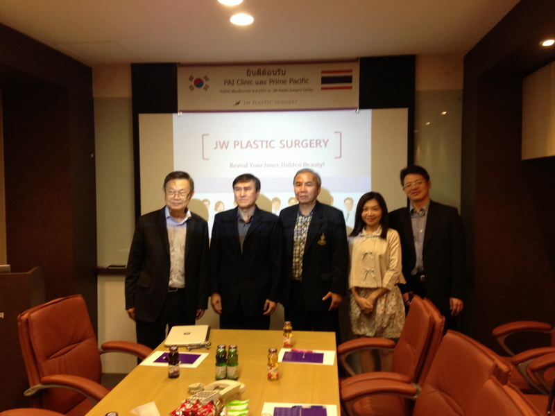 Exchange Knowledge between PAI and JW plastic center. (South Korea).