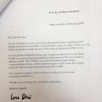 Vanity Fair interview letter